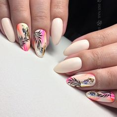 Heat Up Your Life with Some Stunning Summer Nail Art Cute Nails, Pretty Nails, My Nails, Colorful Nail Designs, Nail Art Designs, Spring Nails, Summer Nails, Faux Ongles Gel, Gel Nagel Design