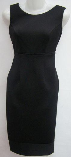 DEBENHAMS STRETCH FABRIC LITTLE BLACK SLEEVELESS PENCIL//WIGGLE DRESS 8 TO 20