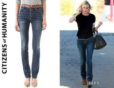 Who: Diane Kruger wearing Citizens of Humanity Arley high waisted jeans Shop: Shopbop.com $229 / £148.25 Where: Out & About, LA Credit: AKM-GSI