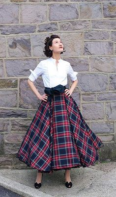 This plaid circle midi skirt is my favorite holiday outfit EVER.