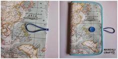 Manualicraft - Costura creativa: Funda portadocumentos de viaje. Tutorial Notebook, Calla, Crafts, Maps, Scrappy Quilts, Worldmap, Wallets, Passport Wallet, Amigurumi Patterns
