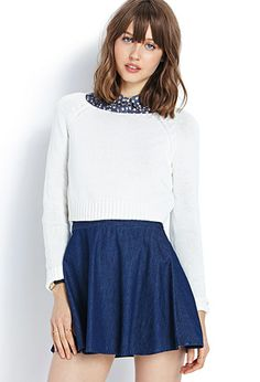 Classic Cropped Sweater | FOREVER21 - 2000070161 #F21Crush