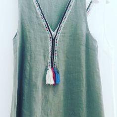 #abitino #lino #svasato #verde #bianco #valeria #abbigliamento