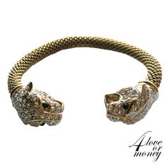Panther/leopard crystal rhinestone rope bangle http://www.rubylane.com/item/1337712-UN-012/Panther-leopard-crystal-rhinestone-rope-bangle
