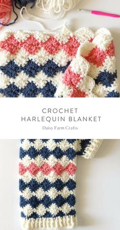 Free pattern – Crochet Harlequin Blanket We are want to say thanks if. Free pattern – Crochet Harlequin Blanket We are want to say thanks if you like to share Crochet Beanie, Baby Blanket Crochet, Crochet Baby, Free Crochet, Knit Crochet, Chunky Crochet Blanket Pattern Free, Afghan Crochet Patterns, Crochet Stitches, Knitting Patterns