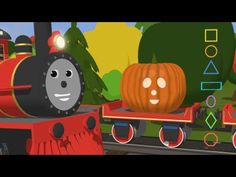 Learn  Shapes and Carve Halloween Pumpkins with Shawn the Train - Fun Cartoon for Kids Halloween Songs, Halloween Stories, Halloween Themes, Halloween Pumpkins, Halloween Activities, Shape Songs, Shapes For Kids, Simple Shapes, Kindergarten Art Lessons