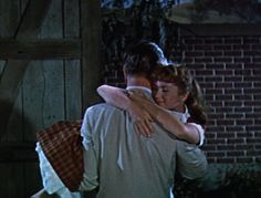 """Debbie Reynolds and Leslie Nielsen, """"Tammy and the Bachelor"""" (1957). Screen capture via Old Movie Fan That I Am / Whitney McFrederick. http://www.pinterest.com/whitneymcfred/old-movie-fan-that-i-am/"""