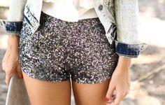 Blinged up shorts, shine bright