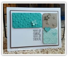 Something to say makes a beautifully simple card with just a few embossing folders and ink.