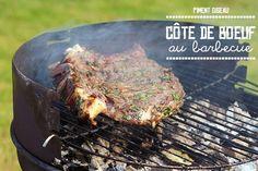 côte de boeuf au barbecue - char grilled beef rib
