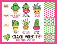OFF Cactus clipart kawaii cactus clipart valentine Scrapbooking Digital, Digital Stamps, Digital Papers, Planner Stickers, Sweets Clipart, Food Clipart, Cactus Clipart, Cute Fonts, Clip Art
