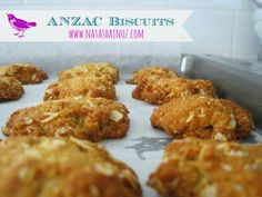 This ANZAC biscuit recipe combines rolled oats, sugar, flour, coconut, butter and golden syrup to create the perfect Aussie treat. Natasha in Oz Large Oven, Anzac Biscuits, Anzac Day, Golden Syrup, Biscuit Recipe, Cooking Time, Free Food, Holiday Recipes