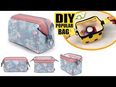 Pattern For Makeup Bag Cheap - diy zipper wire frame pouch bag & makeup bag tutorial & mast have Diy Makeup Bag Tutorial, Diy Pouch Tutorial, Makeup Bag Tutorials, Cosmetic Bag Tutorial, Cosmetic Pouch, Diy Pouch Bag, Diy Pouch No Zipper, Diy Purse, Zipper Bags