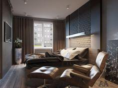 Квартира для холостого мужчины - 3D-проекты интерьеров в стиле лофт | PINWIN…
