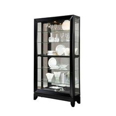 Ski Curios Black Granite Curio Wood Gl Cabinets Display