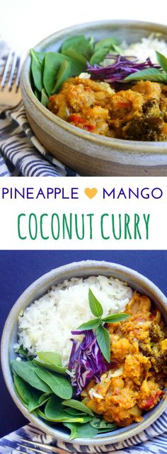 Slow cooker or Crock Pot heaven! This coconut curry is bursting with the flavors of mango and pineapple and it's totally full of veggies. Gluten-free and vegan!