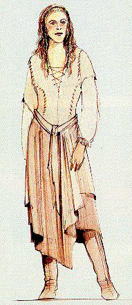 Leia Endor gown concept art