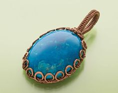 wire jewelry making ideas: flatten areas for wire for more interest - from Make Wire-Wrapped Bezels for Stones: 6 Ways to Perk Up Your Wire Jewelry Making - Jewelry Making Daily