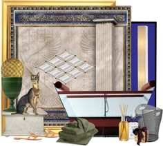 """""""Polyvore Galleries Egyptian Revival ALL SETS Challenge"""" by lindacaricofe ❤ liked on Polyvore"""