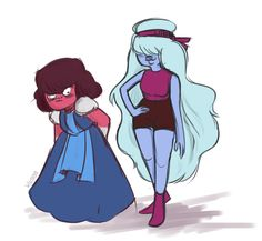 Clothes swap :D | Ruby & Sapphire from Steven universe
