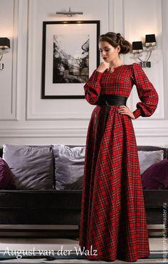 Платье в клетку, Шотландка, макси платье, платье осеннее, зимнее платье, весеннее платье, платье в Санкт-Петербурге, индивидуальный пошив, мастерская, дизайнерское платье, ателье. Hot Piter Style
