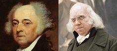 "John Adams, second president of the United States (1797–1801). Paul Giamatti in the HBO series, ""John Adams""."