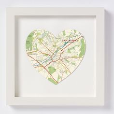 Canterbury Heart Map - Off White