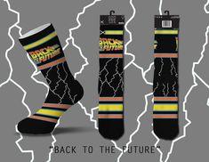 cbb2bc33495 Odd Sox x Back To The Future Movie Throwback Socks Men s 6-13 Retro Film