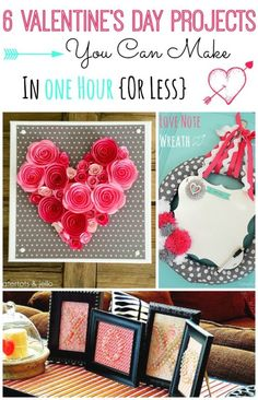 You don't have to spend a fortune in order to be festive on Valentine's Day! Decorate your heart out in under an hour with these inexpensive, easy projects! Make an adorable Pink Bow Wreath with just a few craft items and your front door will look oh-so-sweet. Fancify your mantel with a collection of apothecary jars filled with red, pink, and white-colored cupcake wrappers, ribbon, and doilies. Read on as eBay shares several fast projects to decorate your home for Valentine's Day!