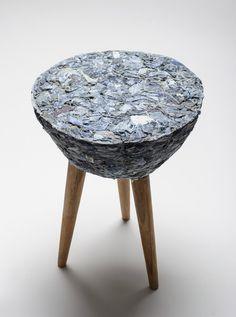pecas: recycled fabric scraps stool