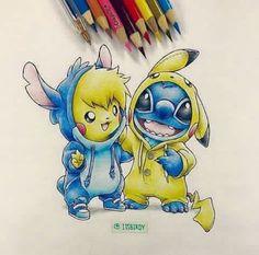 Pickachu and Stitch!!!!!