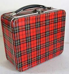 1950s Plaid Lunchbox