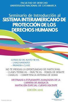 Seminario de Introdución al Sistema Interamericano de Protección de los Derechos Humanos #UNCA #Catamarca #Derecho