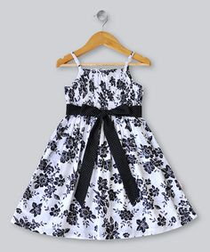 Take a look at this Franjipani Kids Black Clara Ribbon Dress - Toddler & Girls by Dress Du Jour Collection on #zulily today!