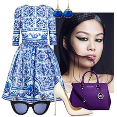 A fashion look from July 2015 featuring Dolce&Gabbana dresses, Christian Louboutin pumps and Michael Kors handbags. Browse and shop related looks.