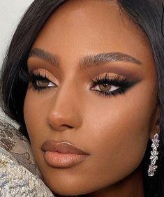 Black Bridal Makeup, Makeup For Black Skin, Makeup Eye Looks, Black Girl Makeup, Girls Makeup, Natural Makeup Looks, Glamour Makeup, Sexy Makeup, Gorgeous Makeup
