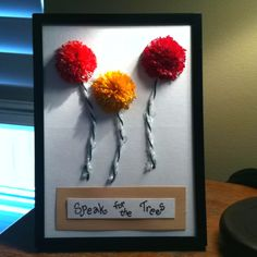 """Thanks again Pinterest!  Originally found on """"The New Home Ec"""" (babble.com) and really fun to make.  I made my own pompoms using embroidery floss."""