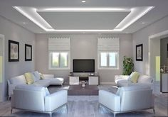 30 Unusual Ceiling Designs Ideas For Living Rooms. Awesome 30 Unusual Ceiling Designs Ideas For Living Rooms. If your ceilings are low, it can make a room look smaller and more closed in. Home Ceiling, Bedroom False Ceiling Design, Living Room Ceiling, Home Interior Design, Ceiling Light Design, Ceiling Design Living Room, Living Room Design Modern, Living Design, Living Room Designs