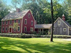 Red Colonial Farmhouse