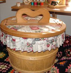 Vintage Large Yarn/Sewing Double Lid Basket by NopalitoVintageMore, $80.00