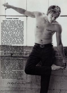 Norman Reedus in Prada pants and oh a tiara, because that is how he rolls.