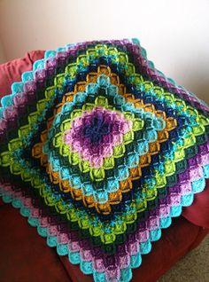 Bavarian Crochet Afghan Lap Blanket by RedRiverDesign on Etsy, $120.00