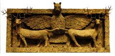 Águia leontocéfala de Indugud sobre dois cervos, III milênio a.C., Museu Britânico, Londres.