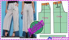 Molde Calça Pantalona ou Pantacourt - Modelagem Passo a Passo