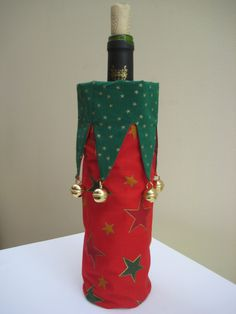Scandinavian Christmas wine bottle cover with by MissSnowberry, $15.00