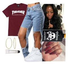"""""""9 Years Old I Seen A Nîgga Get Shot ... Damn"""" by santo-wife ❤ liked on Polyvore featuring NIKE, Bling Jewelry and MAC Cosmetics"""