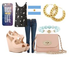 """""""Apoyando a la Argentina"""" by florchipaez ❤ liked on Polyvore featuring Paige Denim, rag & bone, Mulberry, Casetify and Devoted"""