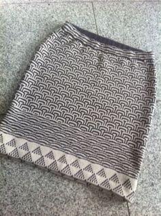 FO: Mosaic Knitting Skirt : ~ Izumi's Knitting Notes ~