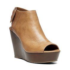 BESTIEE COGNAC LEATHER women's sandal high wedge - Steve Madden | $100