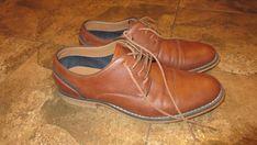 Zapatos de vestir JF J Ferrar Jake Cognac Oxford Denim men s dress shoes  8.5M   07a6718e1b21
